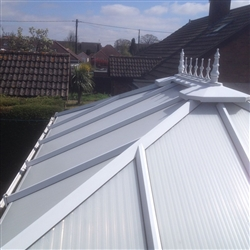 Conservatory roof after cleaning, Woodbridge, Suffolk