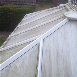 Conservatory roof before cleaning, Woodbridge, Suffolk