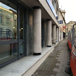 Pressure washing to frontage of RBS in Queen Street Ipswich