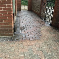 Once the pressure washing is completed and sand swept into the joints we seal the surface with our specialist sealant application. Melton, Near Woodbridge