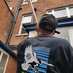 Falcon Maintenace Team in action clearing the gutters of Victorian building in Ipswich, Suffolk