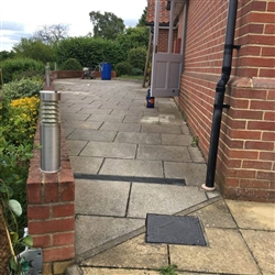 Here is the before photo of a patio area, Copdock, Near Ipswich