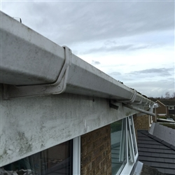 Gutter, Fascia and Soffit before cleaning, Valley Road, Ipswich, Suffolk