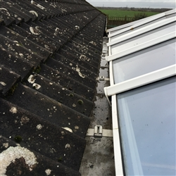 Gutter between house and conservatory cleared