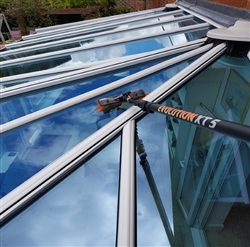 Glass conservatory cleaning with the Falcon Maintenance pure water system